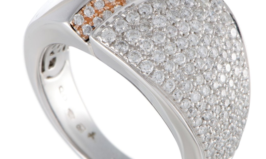 Chimento  Chimento Desiderio 18K White Gold Diamond Pave Band Ring