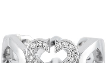 Cartier Cartier 18K White Gold Diamond Heart Ring