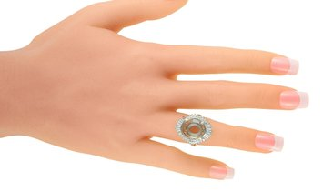 LB Exclusive LB Exclusive Platinum and Diamond Mounting Ring