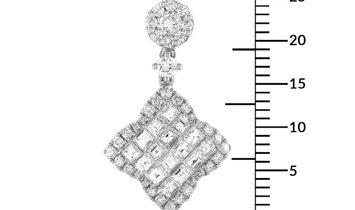 LB Exclusive LB Exclusive 18K White Gold 1.25 ct Round/Asscher Diamond Pendant