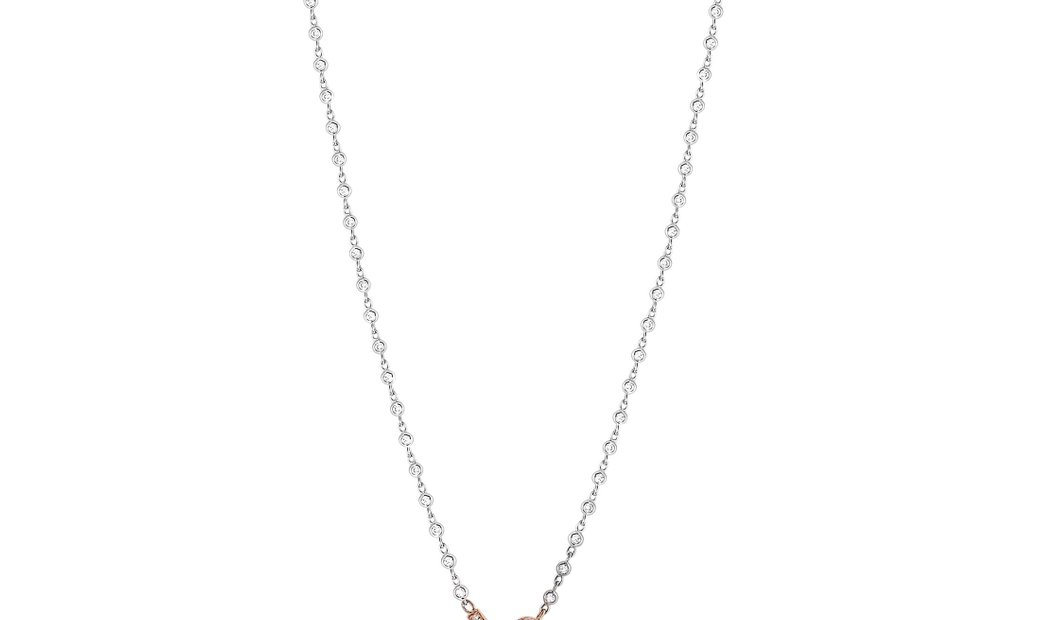 LB Exclusive LB Exclusive 18K White and Rose Gold 3.90 ct Diamond Pave 10 Oval Long Sautoir Necklace