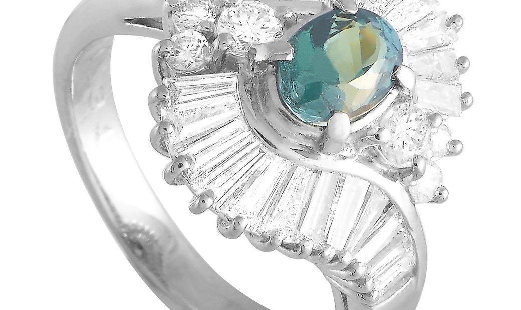LB Exclusive LB Exclusive Platinum 1.31 ct Diamond and Alexandrite Ring