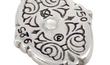 Konstantino Konstantino 18K Yellow Gold and Sterling Silver Black Diamond Earrings