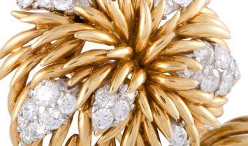 Van Cleef & Arpels Van Cleef & Arpels 18K Yellow and White Gold Diamond Flower Brooch