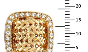 Hermès Hermès 18K Yellow Gold 1.25 ct Diamond Cushion-Shaped Clip-On Earrings