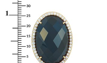 Roberto Coin Roberto Coin Cocktail 18K Rose Gold Diamond and Onyx Ring