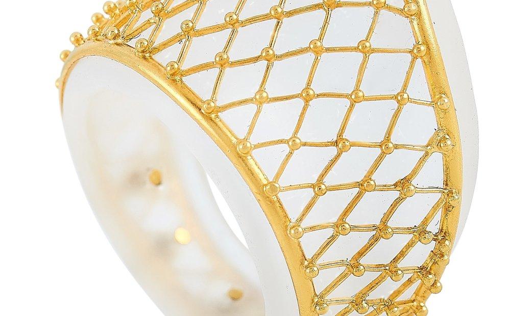 Ilias Lalaounis Ilias Lalaounis 18K Yellow Gold Crystal Ring