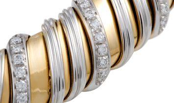 Roberto Coin Roberto Coin Nabucco 18K White and Yellow Gold Diamond Choker Necklace