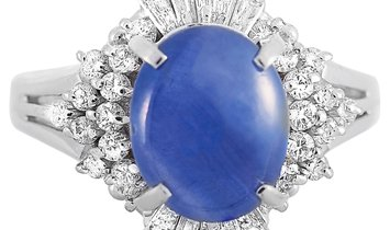 LB Exclusive LB Exclusive Platinum 0.67 ct Diamond and Sapphire Ring