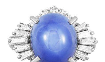 LB Exclusive LB Exclusive Platinum 0.78 ct Diamond and Sapphire Ring