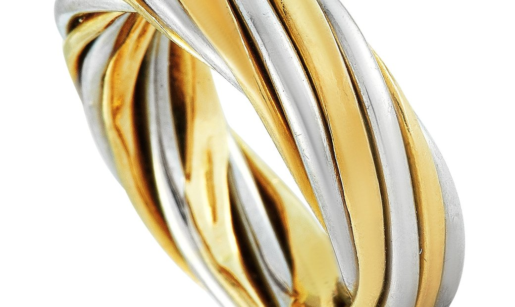 Van Cleef & Arpels Van Cleef & Arpels Vintage 18K White and Yellow Gold Band Ring