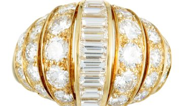 Cartier Cartier 18K Yellow Gold Diamond Bombe Ring
