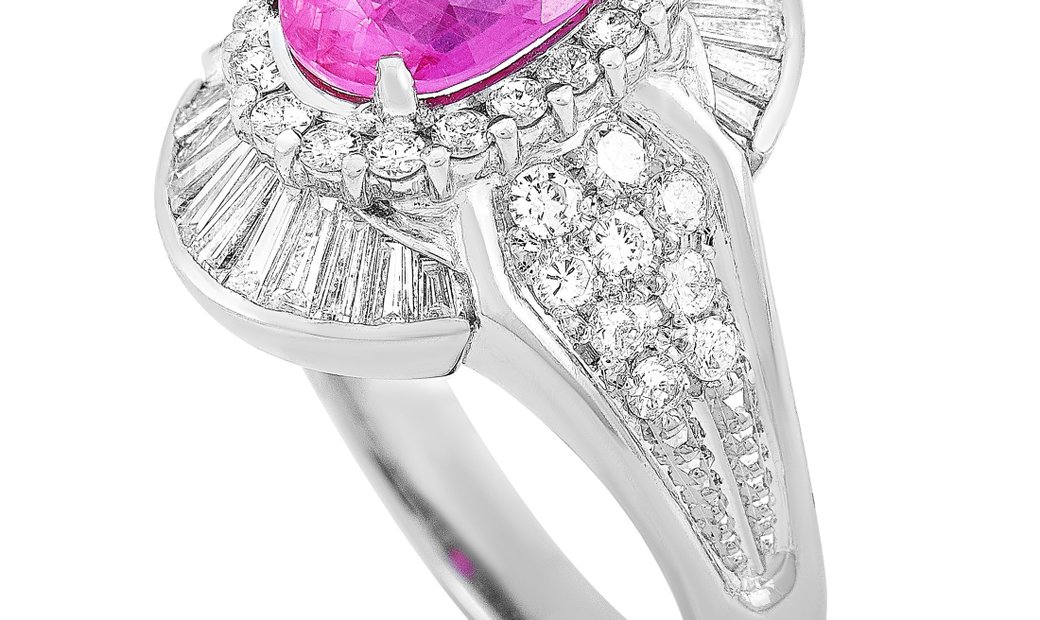 LB Exclusive LB Exclusive Platinum 1.07 ct Diamond and Ruby Ring