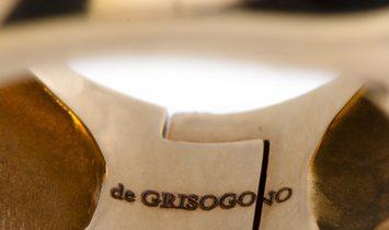 de Grisogono de Grisogono 18K Rose Gold Citrine Cabochon Large Overlapping Ring
