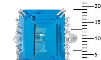 LB Exclusive LB Exclusive Platinum 0.50 ct Diamond and Topaz Ring