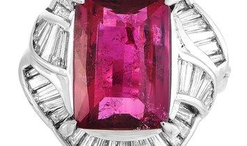 LB Exclusive LB Exclusive Platinum 1.67 ct Diamond and Tourmaline Ring