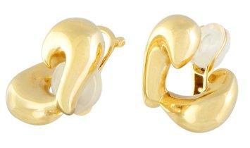Van Cleef & Arpels Van Cleef & Arpels 18K Yellow Gold Heart Clip-on Earrings