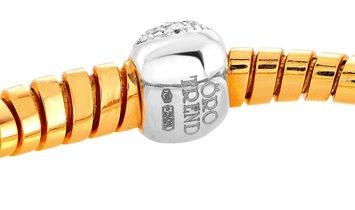 Oro Trend Oro Trend 18K Rose Gold 0.39 ct Diamond Bracelet