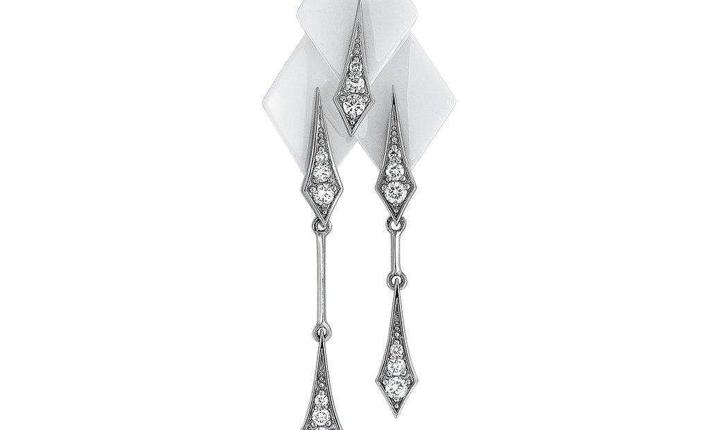 Roberto DeMeglio Roberto Demeglio 18K White Gold and White Ceramic 0.67 ct Diamond Pendant Necklace