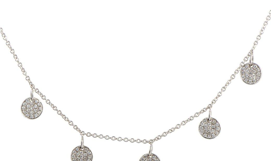 LB Exclusive LB Exclusive 18K White Gold Diamond Pendant Necklace