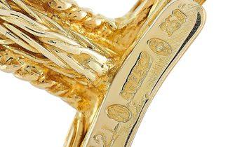 Ilias Lalaounis Ilias Lalaounis 18K Yellow Gold Crystal Flying Geese Pendant