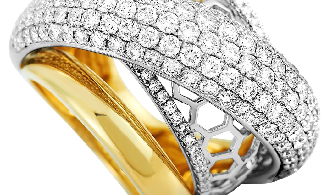 LB Exclusive LB Exclusive 18K White and Yellow Gold 3.15 ct Diamond Ring