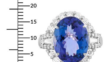 LB Exclusive LB Exclusive Platinum 1.04 ct Diamond and Tanzanite Ring