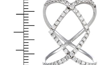 LB Exclusive LB Exclusive 18K White Gold Diamond Pave Openwork 1.07 ct Diamond Band Ring