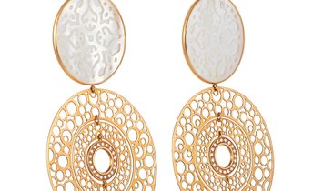 Zoccai Zoccai 18K Rose Gold 0.40 ct Diamond and Mother of Pearl Drop Earrings