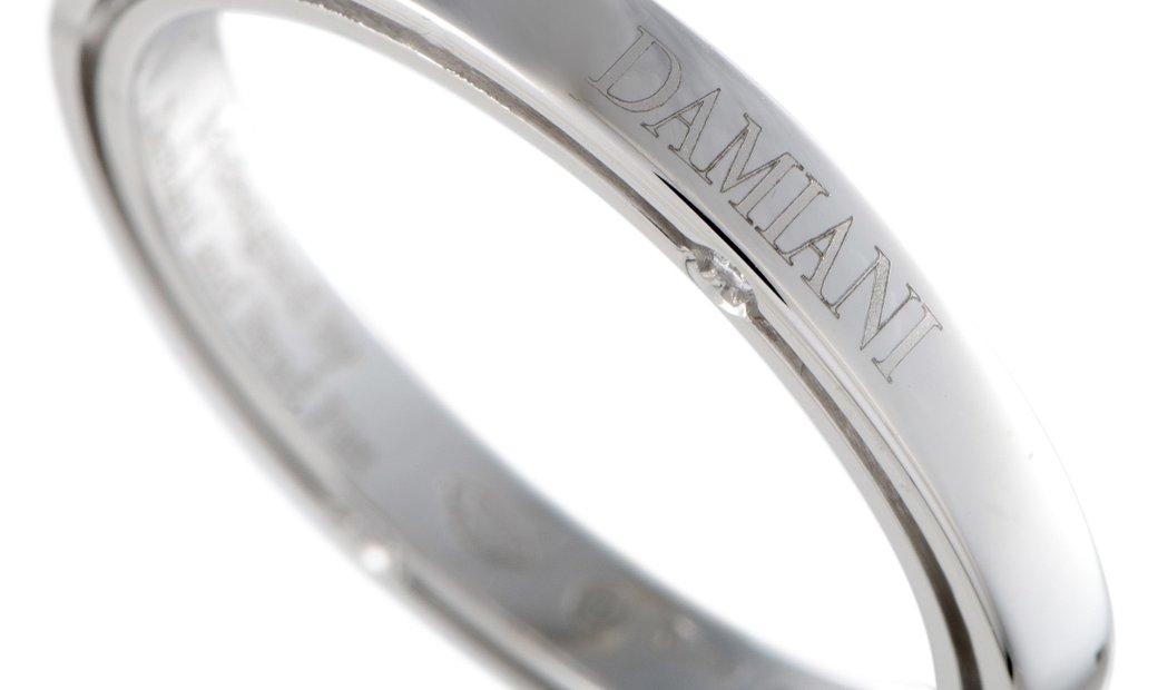 Damiani Damiani D.Side Brad Pitt Platinum 4 Diamond Band Ring
