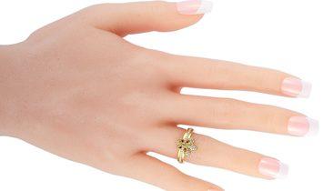 King Baby King Baby 18K Yellow Gold and Diamond Fleur-de-Lis Ring