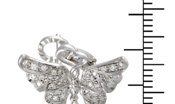 Carrera y Carrera Carrera y Carrera 18K White Gold and 0.70 ct Diamond Butterfly Earrings