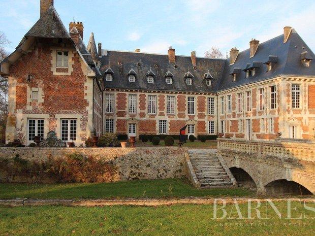 Castle in Cormeilles, Normandy, France 1