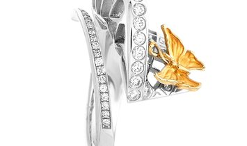 Carrera y Carrera Carrera y Carrera Prisma 18K White and Yellow Gold 0.50 ct Diamond Ring