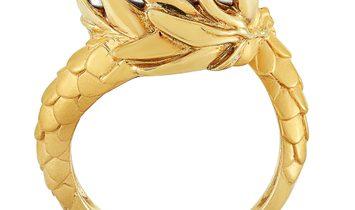Carrera y Carrera Carrera y Carrera 18K Yellow and White Gold 1.25 ct Diamond Dragon Ring