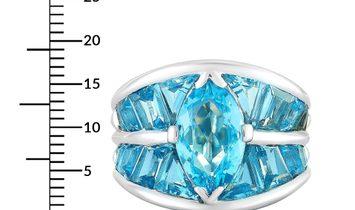 Vasari Vasari 18K White Gold and ~8.50 ct Aquamarine Ring