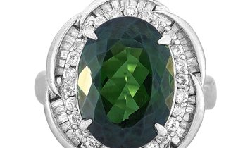 LB Exclusive LB Exclusive Platinum 1.10 ct Diamond and Tourmaline Ring