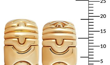 Bvlgari Bvlgari Parentesi 18K Yellow Gold Earrings