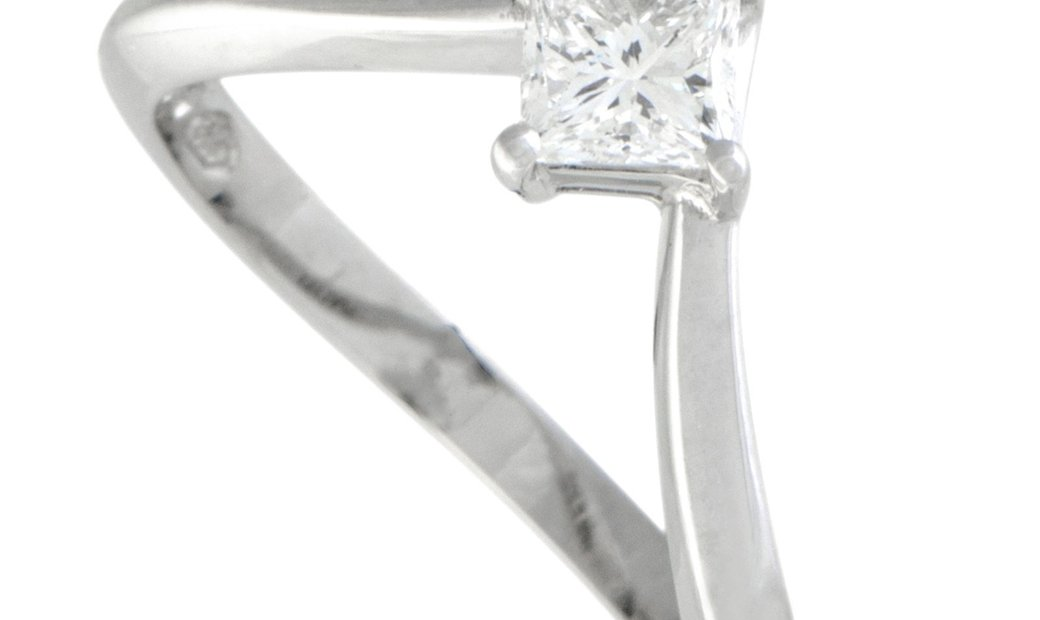 Damiani Damiani Platinum Invisible Setting Diamond Engagement Ring