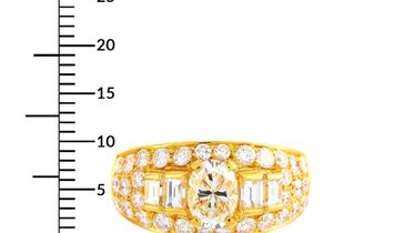 Bvlgari Bvlgari Trombino 18K Yellow Gold and 1.72 ct Diamond Band Ring