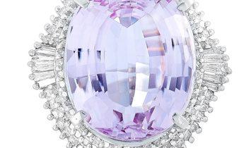 LB Exclusive LB Exclusive Platinum 2.14 ct Diamond and Kunzite Ring