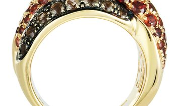 Damiani Damiani Gomitolo 18K Rose Gold Garnet and Smoky Quartz Ring