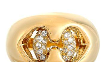 Bvlgari Bvlgari 18K Yellow Gold 0.30 ct Diamond Ring