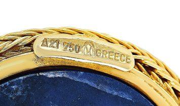 Ilias Lalaounis Ilias Lalaounis 18K Yellow Gold Sodalite Pendant