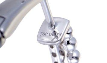 Non Branded 18K White Gold Diamond Round Hoop Earrings