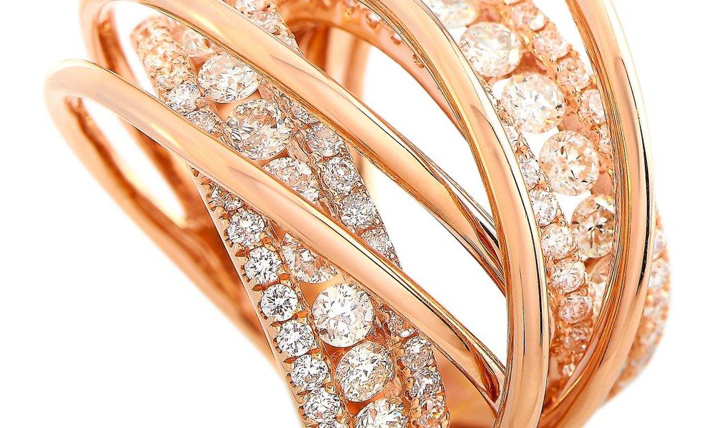 LB Exclusive LB Exclusive 18K Rose Gold 2.50 ct Diamond Ring