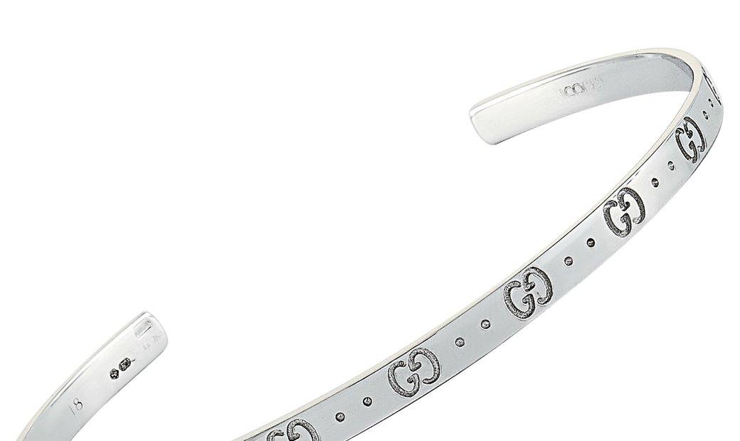 Gucci Gucci Icon 18K White Gold Bracelet Size 18