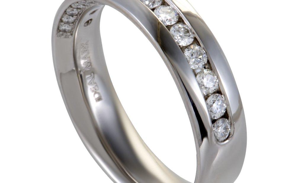 Non Branded ~1ct Men's Platinum and Diamond Wedding Band Ring