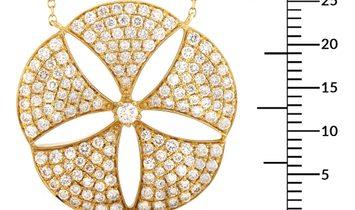 LB Exclusive LB Exclusive 18K Yellow Gold 1.30 ct Diamond Pendant Necklace