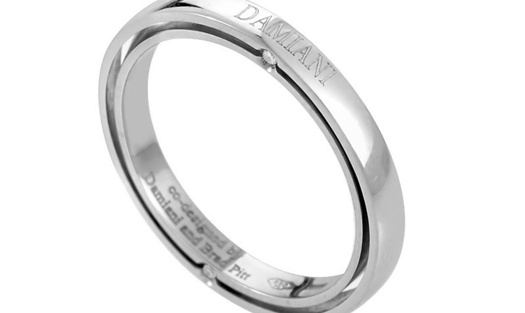 Damiani Damiani D.Side Brad Pitt Platinum 4-Diamond Band Ring